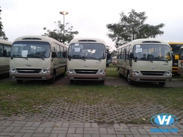 Tận hưởng chuyến hàn trình thoải mái với xe 29 chỗ Huyndai County