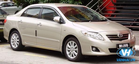 Vân Hải cho thuê xe 4 chỗ Toyota Altis giá rẻ, cạnh tranh