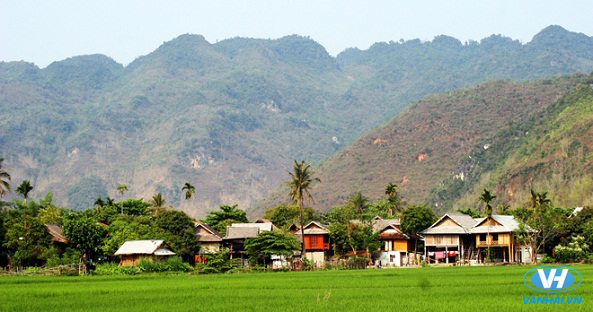 Khung cảnh yên bình của thung lũng Mai Châu