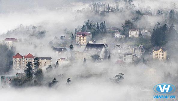 Sapa đẹp huyền ảo và bí ẩn trong sương mây phủ mờ