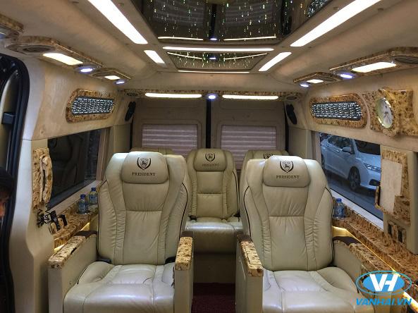 Vân Hải cung cấp dàn xe 9 chỗ dcar president đời mới, hiện đại