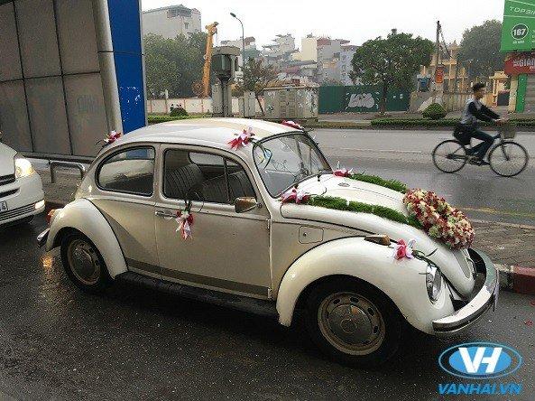 Xe cưới Volkswagen được kết hoa tinh tế