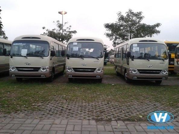 Dàn xe 29 chỗ hiện đại được Vân Hải đưa vào phục vụ khách hàng