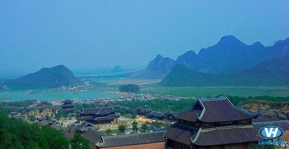 Toàn cảnh chùa Bái Đính nhìn từ trên cao