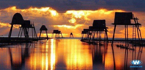 Biển Đồng Châu hiện lên với khung cảnh vô cùng yên bình