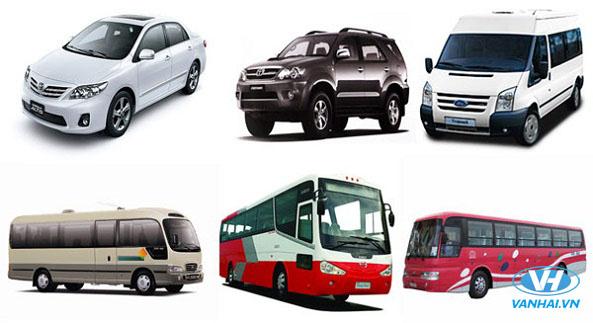 Dàn xe hiện đại từ 4 chỗ đến 45 chỗ cho khách hàng lựa chọn