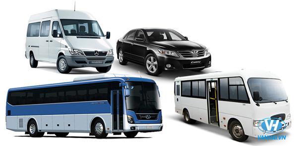 Vân Hải cung cấp dàn xe hiện đại từ 4 chỗ đến 45 chỗ