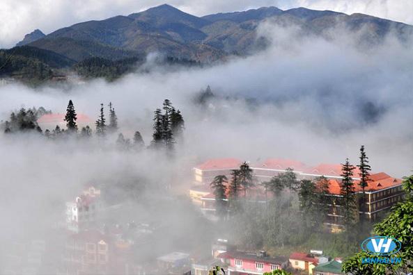 Không gian thiên nhiên tươi đẹp của phố núi Sapa