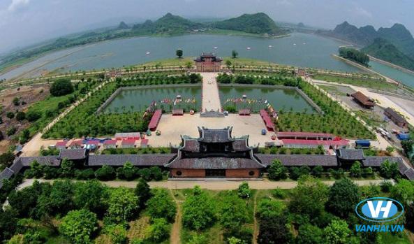Quần thế chùa Bái Đính khi nhìn từ trên cao