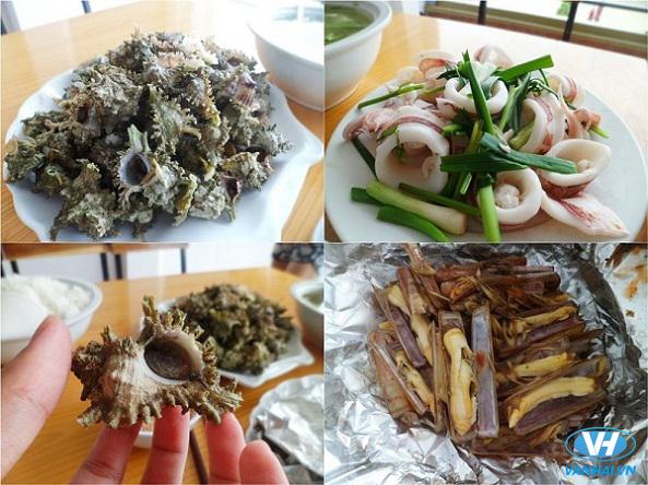 Hấp dẫn với các món ăn từ hải sản